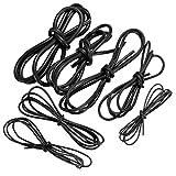 Cable de silicona de 1 metro, color negro, 10/12/14/16/18/20/22AWG