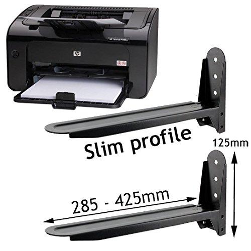 Halterung/-Klammern, verstellbar, für Schreibtisch/Drucker/PC/Notebook/Scanner, schwarz ()