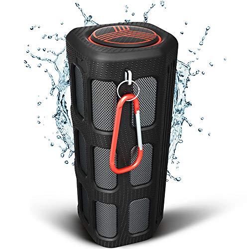 TREBLAB FX100 tragbarer Bluetooth Lautsprecher - robust für Outdoor wasserdicht staubdicht stoßfest. Eingebaute 7000mAh Powerbank, Mikrofon, laut HD Audio Bässe