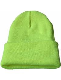 Goosuny Unisex Strickmütze Einfarbig Slouchy Knitting Beanie Hip Hop Cap Warm Winter Ski Hat Freizeit Wintermütze Winterhüte Outdoor Erwachsenen Kappen