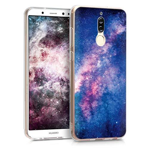 kwmobile Huawei Mate 10 Lite Hülle - Handyhülle für Huawei Mate 10 Lite - Handy Case in Rosa Pink Dunkelblau