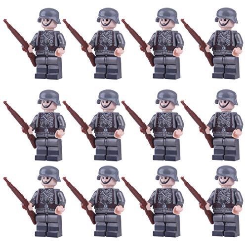 Spieland 12St. Mini Figuren Set mit Militärwaffen SWAT Team Polizei Militär Soldaten Minifiguren Satz Bausteine für Kinder