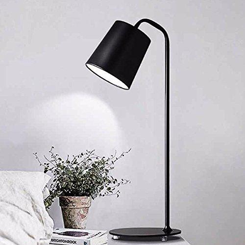 Die einfache Nachttischlampe Tischlampe Buch Licht für Schreibtisch, Schlafzimmer, Kommode, Wohnzimmer, Babyzimmer, College-Wohnheim, Couchtisch, Bücherregal (weiß), schwarz (Schwarzes Bücherregal Finish)