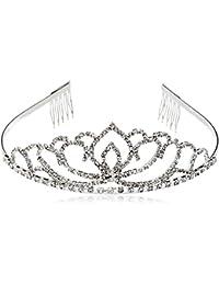 Braut- / Brautjungfernschmuck für Hochzeitfeier, strassbesetzte Krone, Haarreif, Diadem, Haarklammer