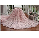 Vintage Embroidered Wedding Lace Fabric bridal gown