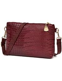Elecenty Ledertasche Tasche/Umhängetaschen Damen/Schultertasche/ Handtasche /Krokodil-Muster Bag/ Reißverschluss Handytasche/Damen Clutches/Shopper/ Frauen Tragetaschen