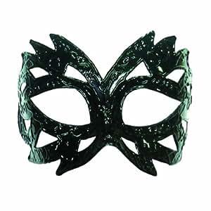 Plastique noir brillant vénitien masque de mascarade pour les yeux CARNAVAL sur le bandeau