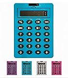 Calculatrice Géante grande taille des touches et gros chiffres - Patins antidérapants, larges touches, affichage LCD - Alimentation par pile fournie - Fonction mémoire - Ecran inclinable - affichage à 8 chiffres - plusieurs coloris disponibles