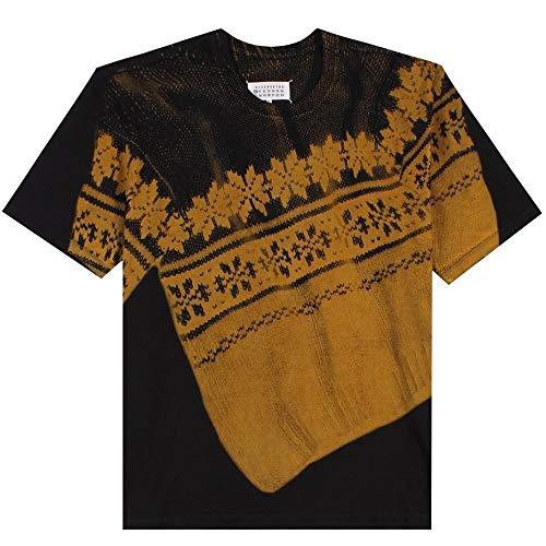 Margiela Maison grafikttshirt schwarz SMALL Black
