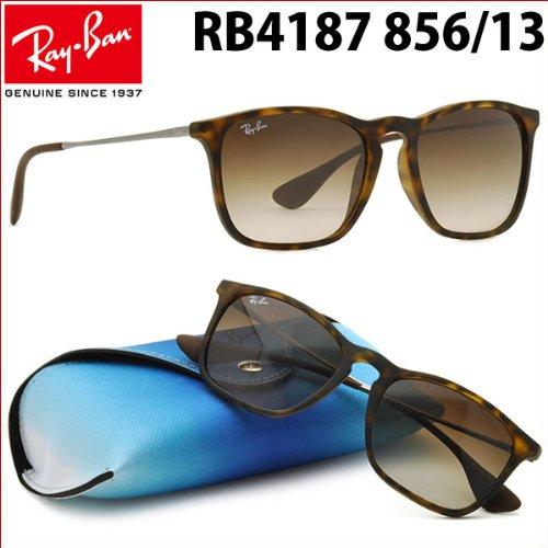 ray-ban-occhiali-da-sole-havana-con-lenti-marrone-opaco-rb4187-856-13