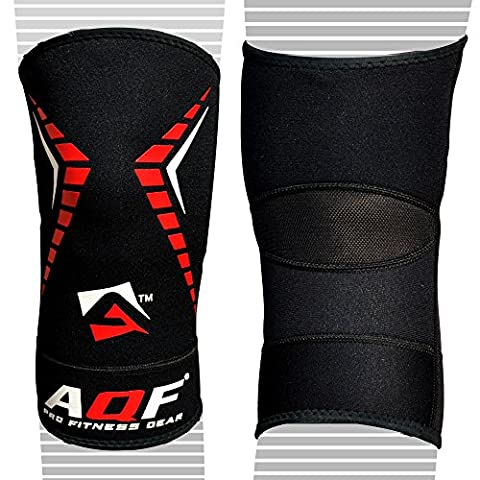 AQF Neoprene Brace Knee Support MMA Pad Guard Protector Gel Sports Work Foam Cap (Large/X-Large)