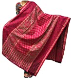 Varun Cloth House Women's Pure Woollen Shawl For Extreme High Winters (vch3810_Pink_Free Size)