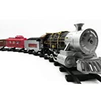 ARKS Toy Train and Track Set with 4 Cars 4 Realistic Train Sounds, with Headlight for Kids