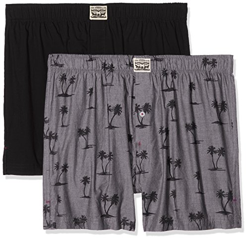 Levi's Men's 300ls Palmtree Print Woven Boxer 2p Hipsters Pack Of 2