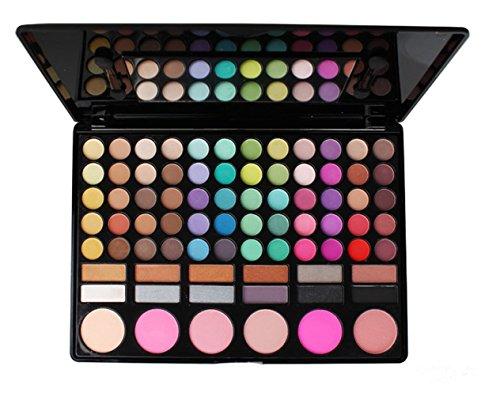 JasCherry Paleta de Sombras de Ojos 78 Colores de Maquillaje Set Kit de alta Calidad Cosmético - Incluye sombra de ojos, Blush Colorete, Corrector, Brillo de labial, polvo de acabado #1