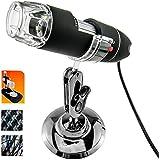 Gearmax® USB 50-500x Fach Digital Mikroskop Microscope Lupe 2MP mit 8 LED Endoskop und Ständer Video PC Kamera