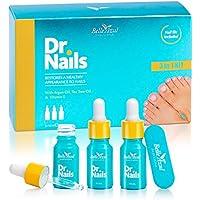 Belle Azul – Dr.Nails – KIT 3 BOTELLAS - Tratamiento rápido y eficaz Anti-Hongos para uñas – 10ML - Contiene Aceite de Argán Orgánico Puro – Para unas uñas saludables de nuevo