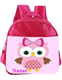 6697bf57024d Cute Owl Personalised Customised Kids Toddlers Nursery School Bag Backpack