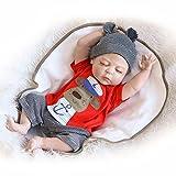 Nicery Reborn Baby Doll Renacer Bebé la Muñeca Simulación de vinilo duro de silicona 22 pulgadas 55cm Boca Magnética Natural Niña Niño Impermeable Bañarse Juguete Boy Girl Toy RD56Z013BC