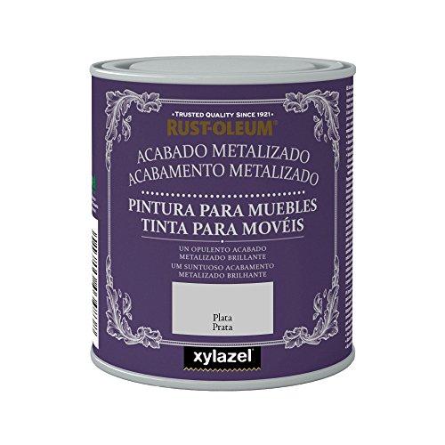 PINTURA PARA MUEBLES CHALKY METALIZADA PLATA 125ML