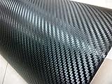 Thboxes Film Vinyle 3D en Fibre de Carbone pour Voiture et Ordinateur Portable