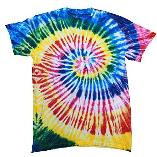 Colortone - Unisex Batik T-Shirt 'Swirl' / Santa Barbara, 3XL (Santa-t-shirt)