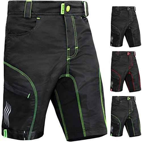 Brisk Bike MTB Shorts MTB Shorts Padded MTB Shorts fox mtb Shorts Altura MTB Shorts Entura MTB Shorts Men MTB Shorts Women All season Cycling Shorts MTB Cycling Shorts MTB Biking Shorts Padded Cycling Shorts Cycling Shorts BIB (Large, Black Green)