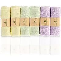 Bamboo Organics - Toallas suaves e hipoalergénicas para bebés - Ideal para pieles sensibles - Paquete de 6