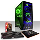 Fierce GOBBLER High-End RGB Gaming PC Desktop Computer Bundle - Fast 4.5GHz Hex-Core Intel Core i7 8700K, All-In-One Liquid Cooler, 1TB Seagate FireCuda Solid State Hybrid Drive, 16GB of 2133MHz DDR4 RAM / Memory, NVIDIA GeForce GTX 1070 8GB, Gigabyte Z370 HD3 Motherboard, GameMax Draco RGB Case, HDMI, USB3, Wi - Fi, VR Ready, 4K Ready, Perfect for High-End Gaming, Operating System not included, Keyboard and Mouse, 3 Year Warranty 872530