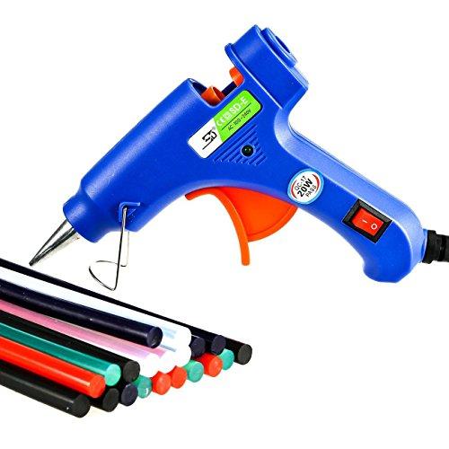 Yosemy Pistola Colla a Caldo, [20 Stick di colla] Pistola Incollatrice Professionale per Lavori Fai Da Te o Riparazione per Uso Domestico o in Ufficio