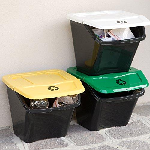 XL DEA Home Recycling-Set 3-teilig #Z436- 3 x 30 Liter Inhalt - beliebig erweiterbar