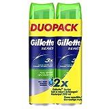 Gillette - Series - Gel à Raser pour Peau Sensible - Lot de 2