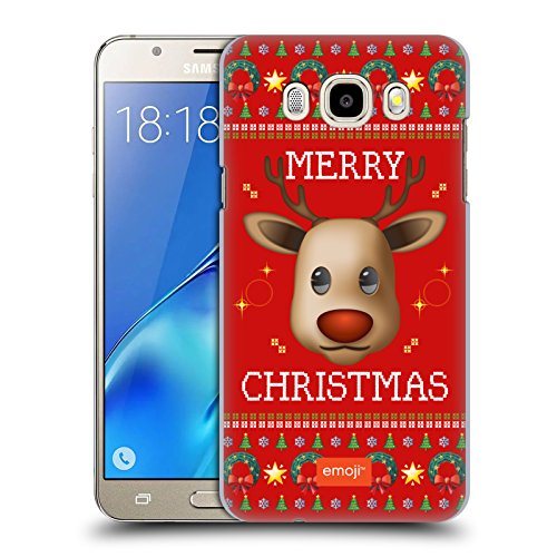 Offizielle Emoji Rentiere Hässliches Weihnachten Ruckseite Hülle für Samsung Galaxy J5 (Passt Weihnachten Hässliche)