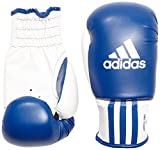adidas Guante de Boxeo Rookie-2, Azul-Blanco, 8 oz, ADIBK01BL-8