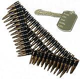 Bristol Novelties Ceinture de munitions et Médaille chien, Rambo, terminaison mexicain de déguisement