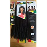 Cherish Marley Braid. Marley trenza . Afro rizado de la torcedura del pelo a granel . Color Negro 1B Afro Kinky Bulk Hair Twist. Black Colour 1B