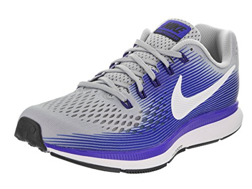 Nike Air Zoom Pegasus 34, Chaussures de Running Homme Bleu (Wolf Grey/white/racer Blue/deep Royal Blue/black)