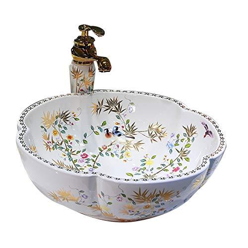 Badezimmer Waschbecken aus Keramik Arbeitsplatte Waschbecken nur Waschbecken (Badezimmer Waschbecken-arbeitsplatte)