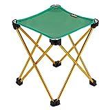 OUTAD Chaise / Tabouret Pliable et Mobile en Alliage d'aluminium 7078 Pour Camping / Pêche / Randonnée / Pique-nique