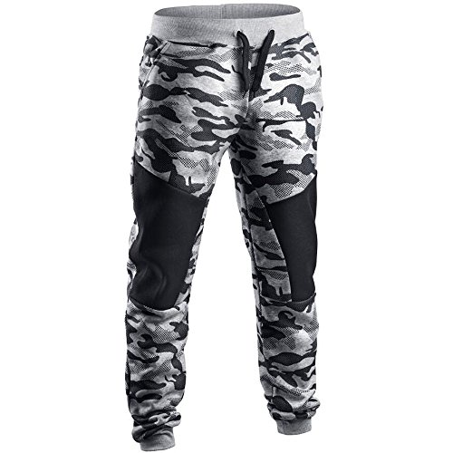 T.boys Herren Trainingshose Patchwork Camouflage Jogginghose für Sport Fitness Sporthose - Jogger Pants - Sweatpants Hosen - Fleece-jersey-trainingshose