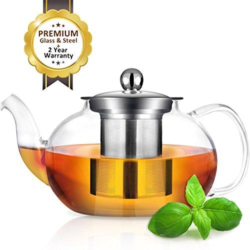 AckMond 800ml Teekanne Glas mit Herausnehmbarem - Eine Teekanne
