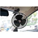 FuriAuto Vehículo oscilante ventilador automóvil del coche de refrigeración Aire con el clip del enchufe de mechero 12V