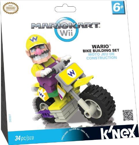 K'Nex 33126W - Mario Kart Wario mit Bike (Knex Mario Figuren)