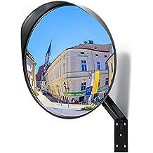 Premium Espejo convexo de seguridad Ø30 cm - Espejos de trafico perfecto para garajes y para la transparencia de ángulos de Muertos