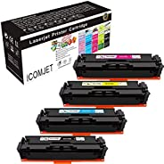 ICOMJET Compatible Toner Cartridge Replacement for HP 201A CF400A CF401A CF402A CF403A Work for HP Color Laser