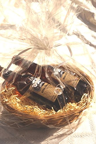 DOG VALENTINE LUXURY PERSONALISED DOG BEER HAMPER BOTTOM SNIFFER DOG BEER X 2 & HEART TAG