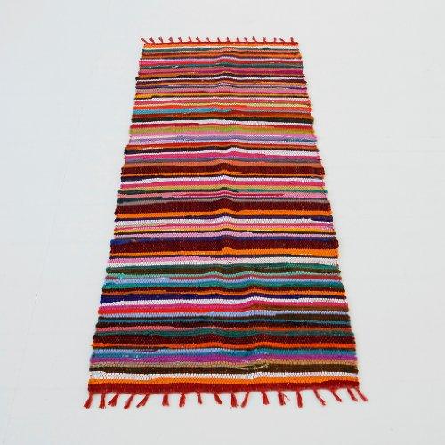 Paper High - Alfombra alargada (240 x 75 cm, fabricada a mano, reciclada)
