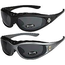 Choppers - Lot de 2 paires de lunettes de soleil avec rembourrage dans les  coloris noir 0ae56a1f065b
