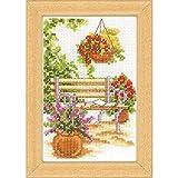 Vervaco PN-0003719 VER Miniatur Auf der Gartenbank Aida
