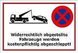 Schild Park-verbot - Parken verboten - 30x20cm | stabile 3mm starke PVC Hartschaumplatte – S00020B-B +++ in 20 Varianten erhältlich